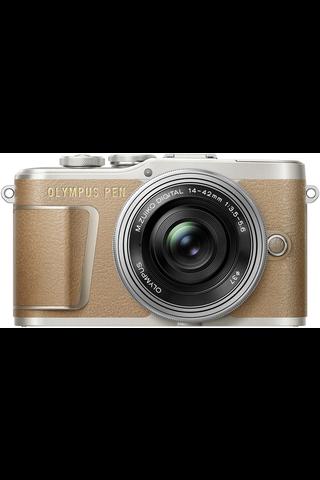 Olympus PEN E-PL9 14-42mm ez kit kamera ruskea