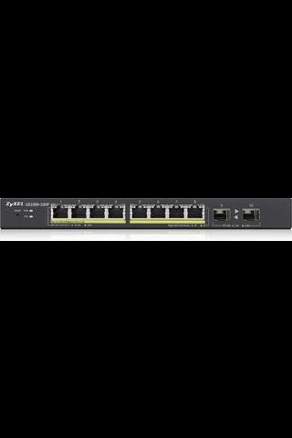 Zyxel GS1900-10HP 10-porttinen PoE kytkin smart-hallittava 77w Poe Power Budget