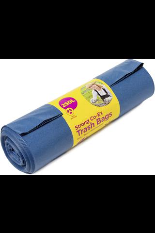 McLean-Home Vahva jätesäkki, sininen LDPE, 250L, 5kpl/rll