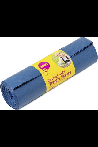 McLean-Home Vahva jätesäkki, sininen LDPE, 200L, 5kpl/rll