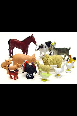 Pienet farmieläimet 12kpl lelu