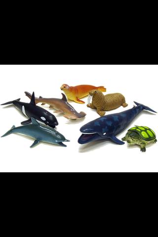 Isot merieläimet 8kpl lelu
