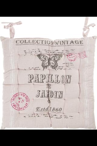 House Papillon istuintyyny vaaleanpunainen 40x40cm