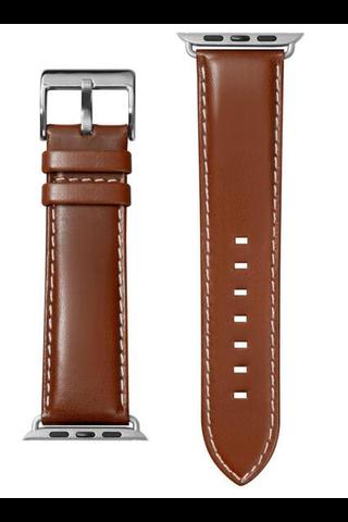 Laut Oxford vaihtoranneke Apple Watch 38mm ruskea