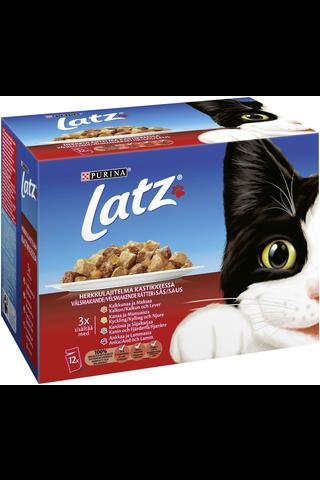 Latz 4x100g Herkkulajitelma Kastikkeessa lajitelma 4 varianttia kissanruoka