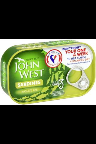 John West 120/90g Sardiinit oliiviöljyssä