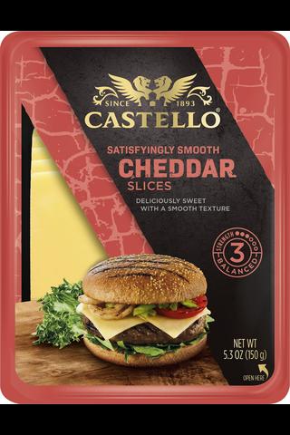 Castello Burger Cheddar viipaleet 150 g