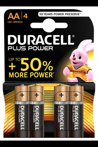 Duracell 4kpl Plus Power AA alkaliparisto