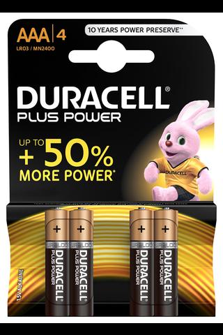 Duracell 4kpl Plus Power AAA alkaliparisto