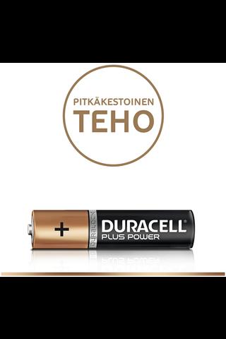 Alkaliparisto Duracell Plus Power AAA , 16 kpl