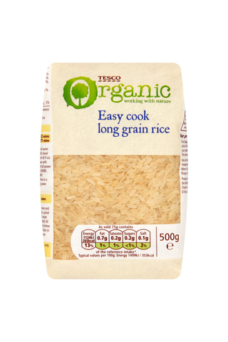 Tesco 500g luomu pitkäjyväinen riisi