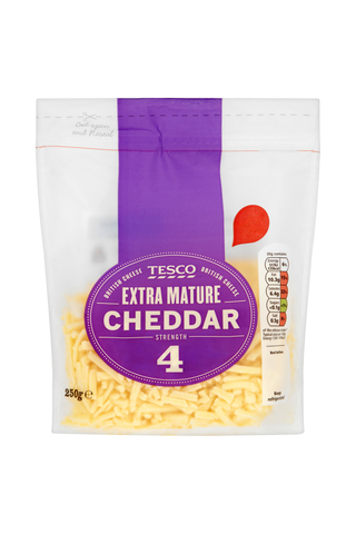 Tesco 250g Extra Mature Cheddar juustoraaste