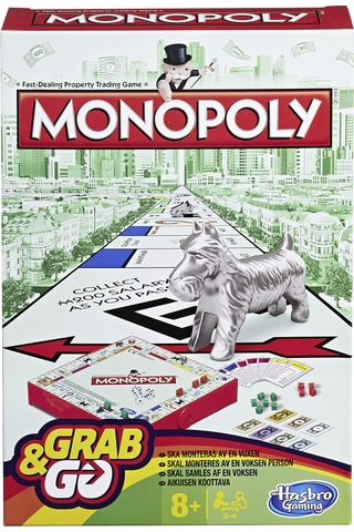 Hasbro Gaming Monopoly Grab & Go matkapeli
