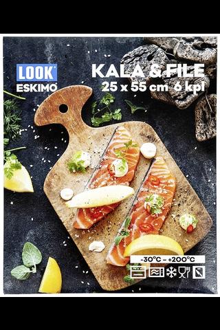 Look 25cm x 55 cm Kala&Filépussi 6 kpl