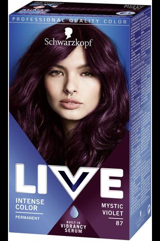 Schwarzkopf Live Color XXL 87 Mystic Violet Color Intense hiusväri
