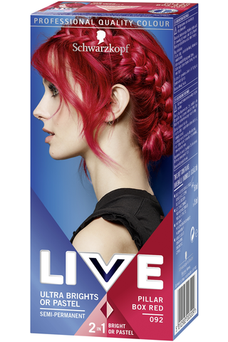 Schwarzkopf LIVE Ultra Brights 92 Pillar Box Red hiusväri