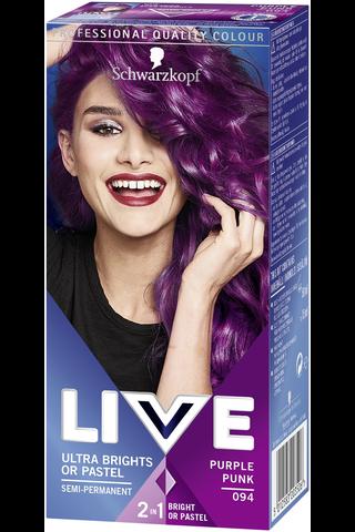 Schwarzkopf LIVE Ultra Brights 94 Purple Punk hiusväri