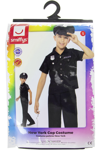 New york city poliisi asu koko s/115-128 cm= 4-6 vuotiaille