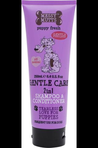 Messy Mutts 250ml shampoo koiranpennuille 2in1