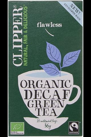 Clipper 36g vihreä tee kofeiiniton luomu 20pss