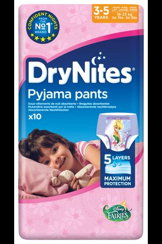 DryNites yövaippa tyttö 3-5v 10kpl