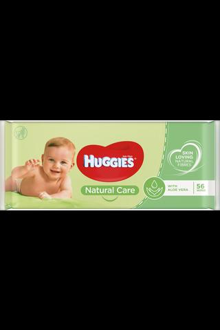 Huggies 56kpl Natural Care puhdistuspyyhe