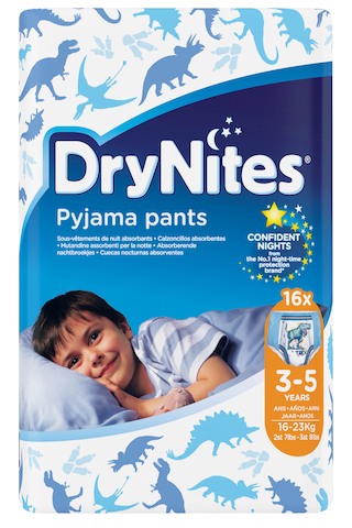 Drynites yövaippa 3-5v poika 16kpl