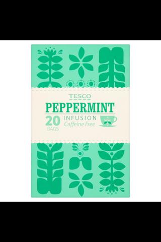 Tesco peppermint 20  t/bgs 30g