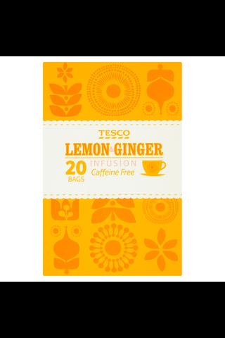 Tesco 40g Lemon & Ginger Infusion Caffeine Free tee 20ps