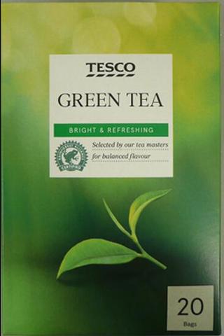 Tesco 50g Green Tea tee 20ps