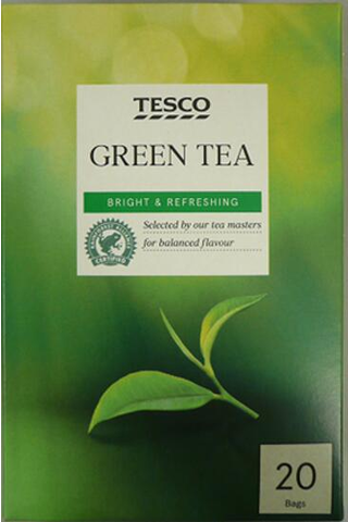 Tesco  green tea  20  t/bgs  50g