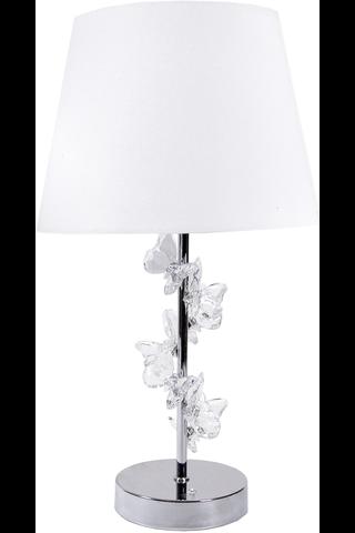 Roomlight pöytävalaisin Butterfly 45cm kromi/valkoinen