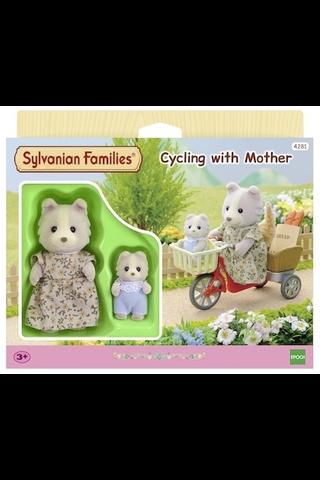 Sylvanian families pyöräretki äidin kanssa