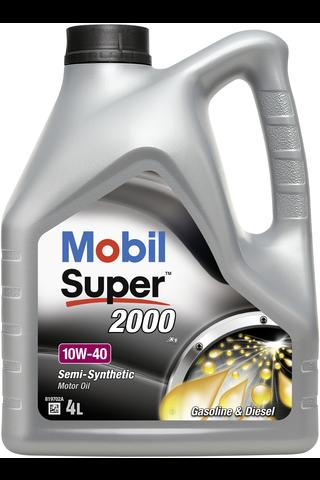 Mobil Super 2000 X1 4l moottoriöljy 10W-40