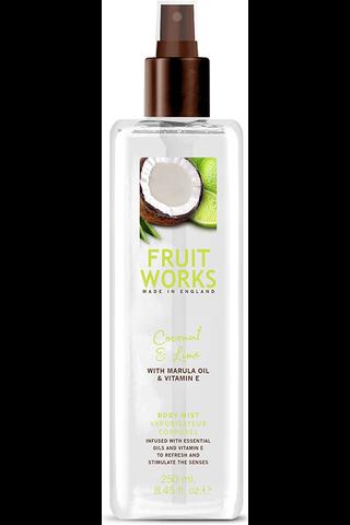 Fruit Works 250ml Body Mist kookos ja lime