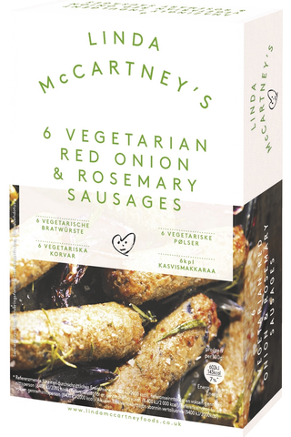 Linda McCartney's Vegetarian Red Onion&Rosemary Sausages makkara pakaste 300g/6kpl