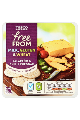 Tesco free from jalapeno-chili style 200g