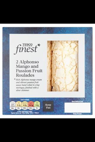 Tesco Finest 180g Alphonso Mango Passion Fruit Roulades leivonnainen