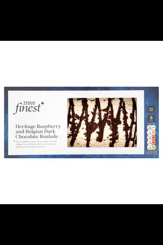 Tesco Finest 580g Raspberry and Belgian Dark Chocolate Roulade leivonnainen