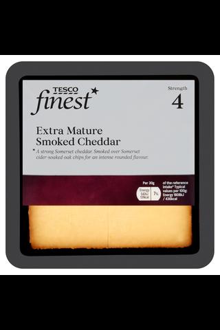 Tesco 200g Extra Mature Smoked Cheddar juusto