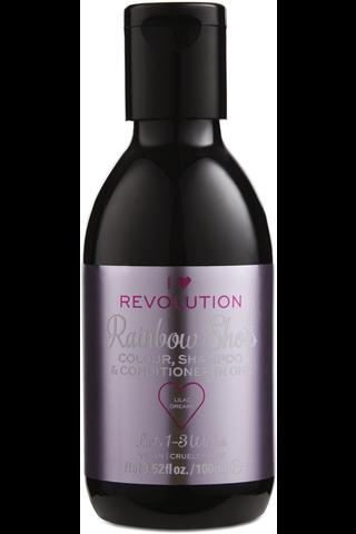 I Heart Revolution Rainbow Shots Lilac Dreams hoitava shampoohiusväri 100ml