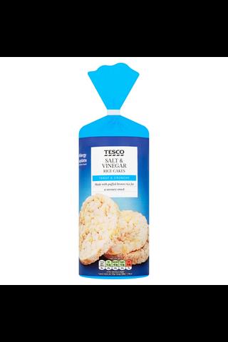 Tesco 128g Salt & Vinegar Riisikakkuja