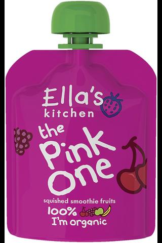 90g Ella's Kitchen The Pink One, Pinkki hedelmäsmoothie LUOMU