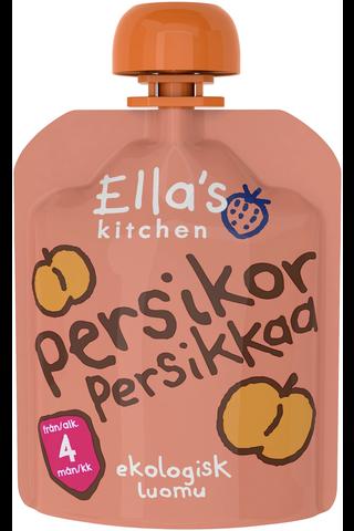 70g Ella's Kitchen Persikkaa persikkasose, luomu