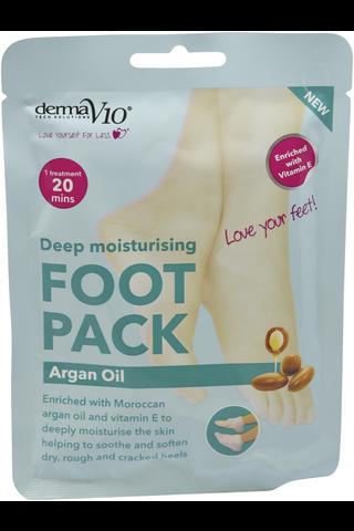 Derma V10 45g jalkanaamio Argan Oil