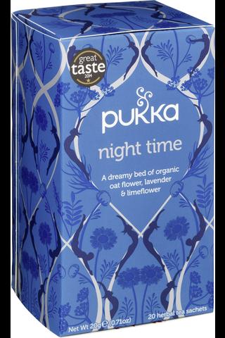 Pukka 20p Yrttitee Night Time luomu