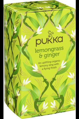 Pukka 20p Yrttitee Lemongrass & Ginger luomu