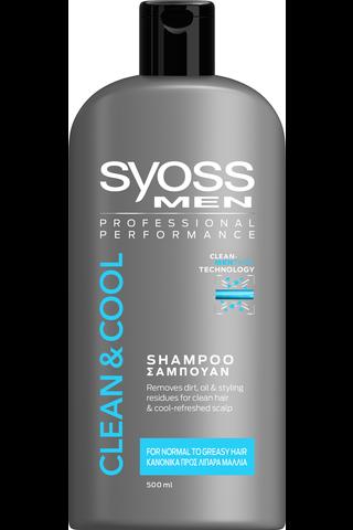 Syoss 500ml MEN Clean&Cool Shampoo