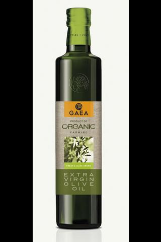 Gaea Extra virgin oliiviöljy luomu, kylmäerotus 500ml