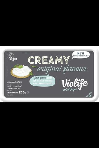 Violife Creamy 200g maustamaton maidoton vaihtoehto tuorejuustolle